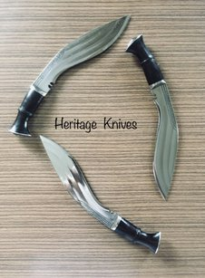 Heritage Knives, Officers small 3 chirra Kukri knife, Khukuri 8 inch blade, inches, three fullers, interwar, ww1, ww2 era, gurkha rifles, gurkhas regiment, british army, indian military, nepal, legendary brave, victoria cross. Knife makers, kukri maker, heat treat, new high carbon steel, historical reproduction, heritage based, fine quality, best, antiques in use, specifications, war, battle, image, photo, outdoor, hunting, bushcraft, himalayas, tribe, genuine. kilatools.com, sirkukri, pinterest, authentic.