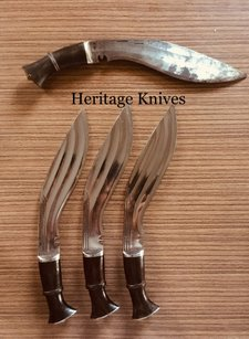 Heritage Knives, Officers small 3 chirra Kukri knife, three fullers, interwar, ww1, ww2 era, gurkha rifles, gurkhas regiment, british army, indian military, nepal, legendary brave, victoria cross. Knife makers, kukri maker, heat treat, new high carbon steel, historical reproduction, heritage based, fine quality, best, antiques in use, specifications, war, battle, image, photo, outdoor, hunting, bushcraft, himalayas, tribe, genuine. kilatools.com, sirkukri, pinterest, authentic.