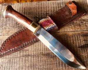 Varri Leuku knife by Heritage Knives, hand forged traditional Same / Sami knife. Nordic, Scandinavia, Sapmi, Sameland, norrland, mountains, utility and bushcraft, hunting and outdoor knife, blade of high carbon spring steel. Pukko.