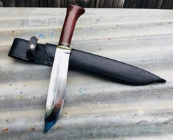 Traditional hand-forged, Leuku knife, hollow forged, bevel, sticktang, by Heritage Knives, hand-crafted, forged, Samekniv, Sami people knife. Nordic, Scandinavia, viking, Sameland, reindeer, organic, utility, bushcraft, hunting, outdoor knife, blade of high carbon spring steel. kilatools.com, hunting tool and gear, sweden, norway, finland.