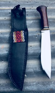 Traditional hand-forged, Leuku knife, by Heritage Knives, hand-crafted, forged, Samekniv, Sami people knife. Nordic, Scandinavia, viking, Sameland, reindeer, organic, utility, bushcraft, hunting, outdoor knife, blade of high carbon spring steel. kilatools.com, hunting tool and gear.