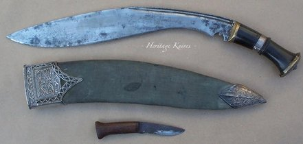 slim sirupate.  John Powell knife Heritage Knives Nepal Khukuri history and heritage. Image, photo, articles, book, research, antiques, reproduction, gurkha rifles, gorkha regiment, british army, indian military, nepal army, world war 1, 2. WW1, WW2, JP. kilatools. 19th and 20th century issue, traditional kothimora. Bushcraft, utility, camping, manufacturer, producer, retail, seller, export of high quality blades genuine authentic gurkha knife, antique viking himalayas.